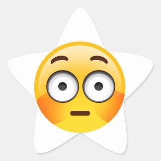 洗い流された頬との戸惑ったEmoji 星シール
