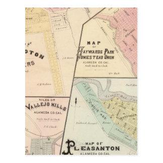 洗浄コーナー、Haywards公園、Niles、Pleasanton ポストカード