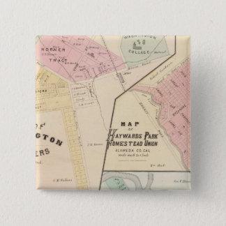 洗浄コーナー、Haywards公園、Niles、Pleasanton 5.1cm 正方形バッジ