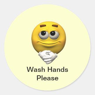 洗浄手は喜びます ラウンドシール