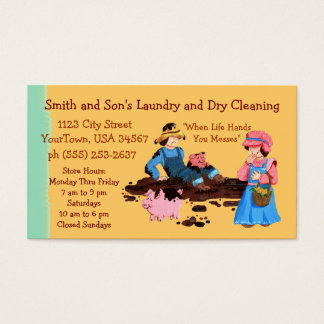 洗濯およびドライクリーニング 名刺