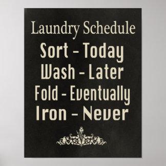 洗濯のスケジュール ポスター
