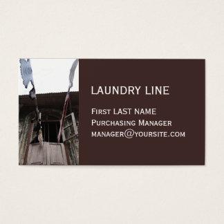 洗濯の茶色の名刺 名刺