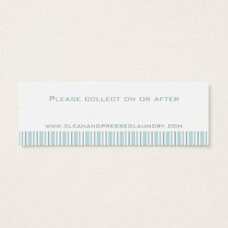 洗濯サービスミントのコレクションの日付カード スキニー名刺