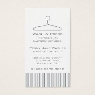 洗濯サービス灰色の振動こつのラベルの名刺 名刺