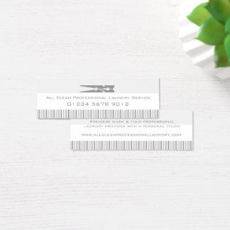 洗濯サービス灰色の振動ラベル/名刺 スキニー名刺