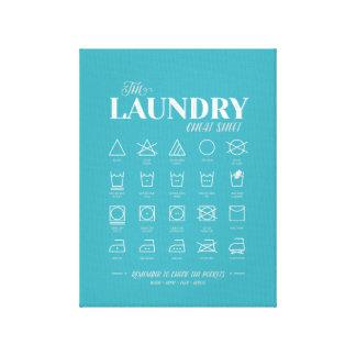 洗濯室のカンニングペーパー(キャンバスプリント) キャンバスプリント