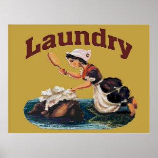 洗濯室の印 ポスター
