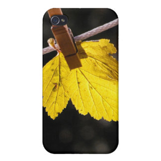 洗濯日、葉、洗濯ばさみ、iPhoneの場合 iPhone 4 ケース