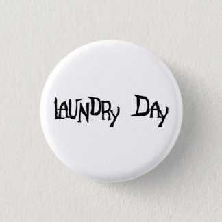 洗濯日 3.2CM 丸型バッジ