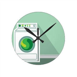 洗濯機の洗濯室 ラウンド壁時計