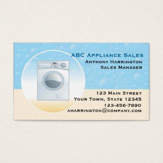 洗濯機の電気器具 名刺