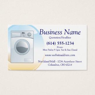 洗濯機または電気器具の名刺のデザイン2 名刺