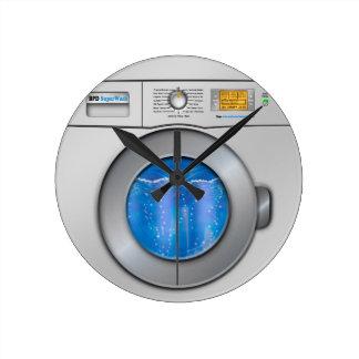 洗濯機 ラウンド壁時計