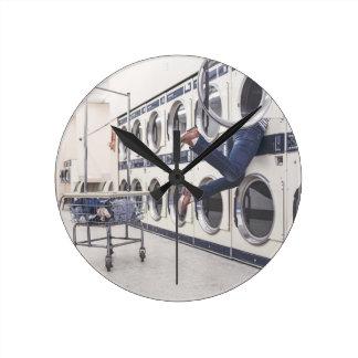 洗濯 ラウンド壁時計