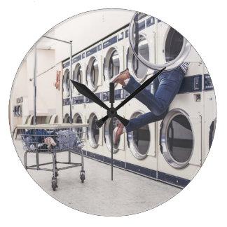 洗濯 ラージ壁時計