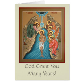 洗礼の挨拶状 カード