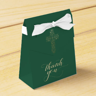 洗礼または聖餐の好意箱; メッセージありがとう フェイバーボックス