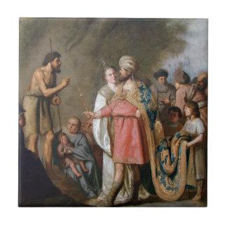 洗礼者ヨハネの説教 タイル