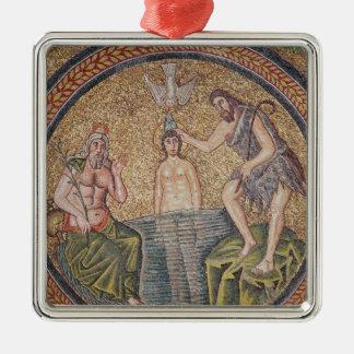 洗礼者ヨハネ著キリストの洗礼 メタルオーナメント