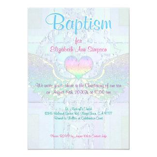 洗礼|の水晶のハートの虹 カード