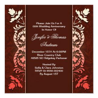 洗練されたエレガントな結婚記念日 カード