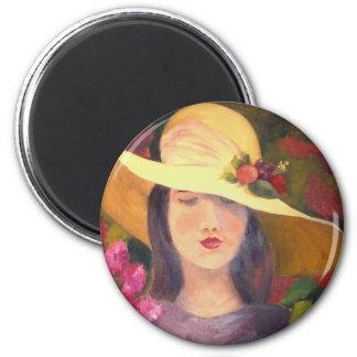 洗練された花型女性歌手の磁石 マグネット