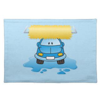 洗車の漫画 ランチョンマット