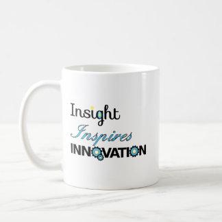 洞察力は革新をインスパイア コーヒーマグカップ