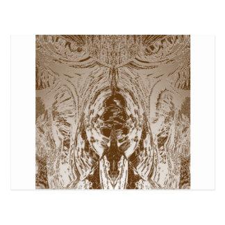 洞窟のスタイルのヴィンテージの金ゴールドパターン ポストカード