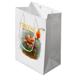 洞窟のネズミ愛金チーズ ミディアムペーパーバッグ