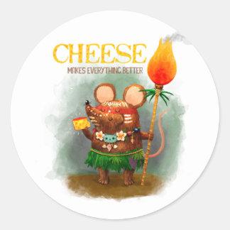 洞窟のマウスはチーズを愛します ラウンドシール