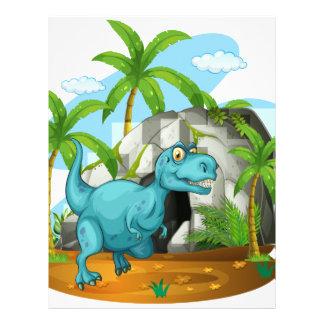 洞窟の前の恐竜 レターヘッド