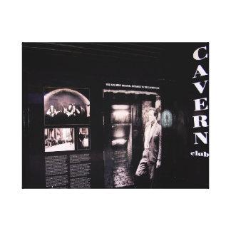 洞窟クラブ元の入口、リヴァプール、イギリス キャンバスプリント