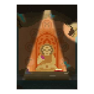 洞窟ピクセル芸術の招待状の発見 カード