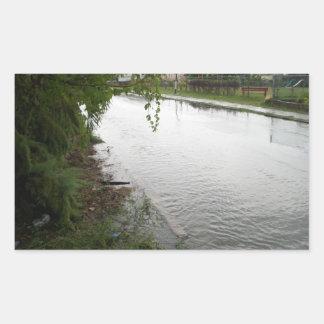 洪水の地帯 長方形シール