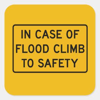 洪水の場合には、警告標識、米国を売買して下さい スクエアシール