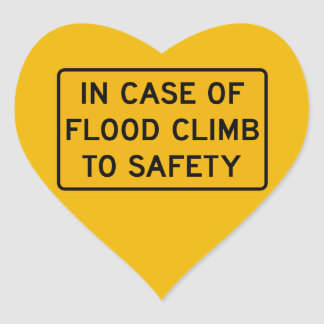 洪水の場合には、警告標識、米国を売買して下さい ハートシール