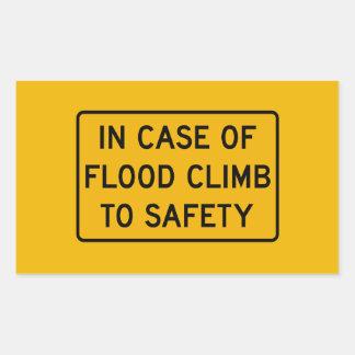 洪水の場合には、警告標識、米国を売買して下さい 長方形シール