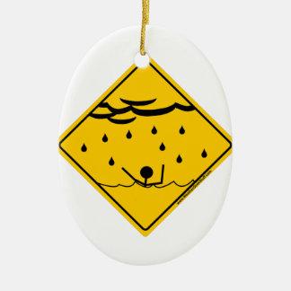 洪水の天候の警告の商品および衣類 セラミックオーナメント