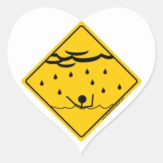 洪水の天候の警告の商品および衣類 ハートシール