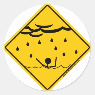洪水の天候の警告の商品および衣類 ラウンドシール
