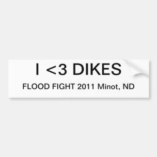 洪水の戦い2011年 バンパーステッカー