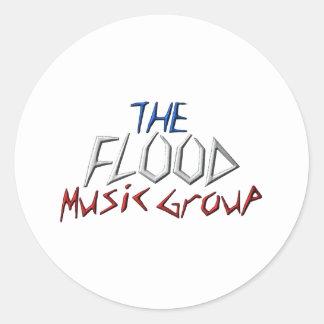 洪水音楽Groupe ラウンドシール