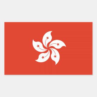 洪Kongerの旗のステッカー 長方形シール