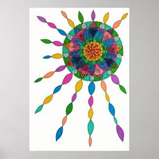 活動化の喜びの治療の曼荼羅ポスター ポスター