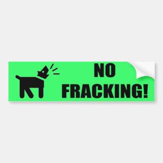 活動家犬: Fracking無し バンパーステッカー