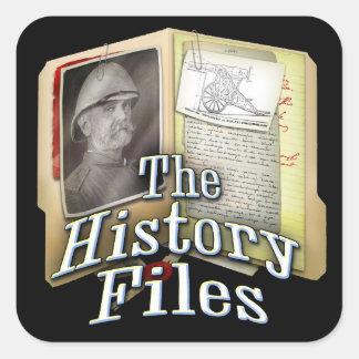 活動記録ファイルのステッカー スクエアシール