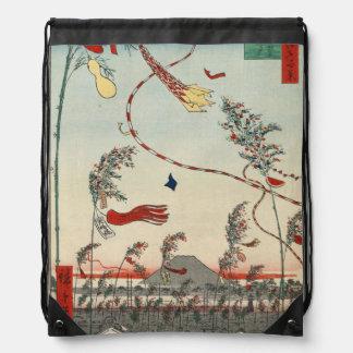 活気づく都市Tanabataの祝祭 ナップサック