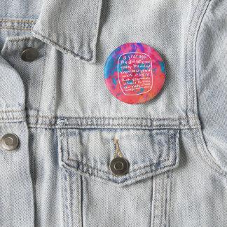活気づけるでやる気を起こさせるなボタン-抽象美術の引用文 缶バッジ